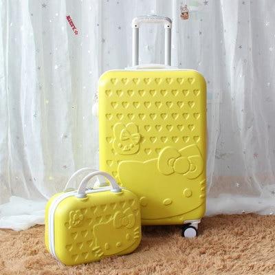 4de54232aace Dropwow TRAVEL TALE 14inch Cosmetic Bag 20 24 28 Inch Lovely Hello ...