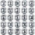V. YA Alfabeto Granos para la Joyería Que Hace Accesorios 26 Tipos de Cristal Carta Bolas de Pandora Encantos