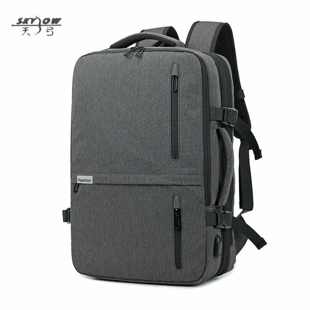 2cf084a5be9b 2018 USB Bags Laptop Backpack 17 19 in Men Casual Waterproof Business  20-35L 8827