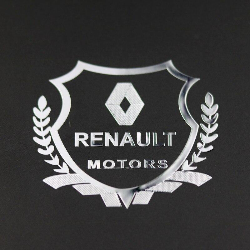 2pcs Excellent 3D Metal Car Sticker Emblem Badge Case For  Renault Megane 2 3 Duster Logan Clio Laguna 2 Captur Accessories
