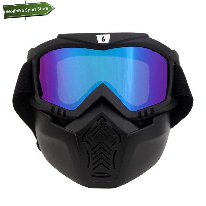 Prix pour WOLFBIKE Hiver Hommes Femmes Ski Snowboard Lunettes Moto Motocross Racing Lunettes Sports de Plein Air Lunettes Masque lunettes de Soleil