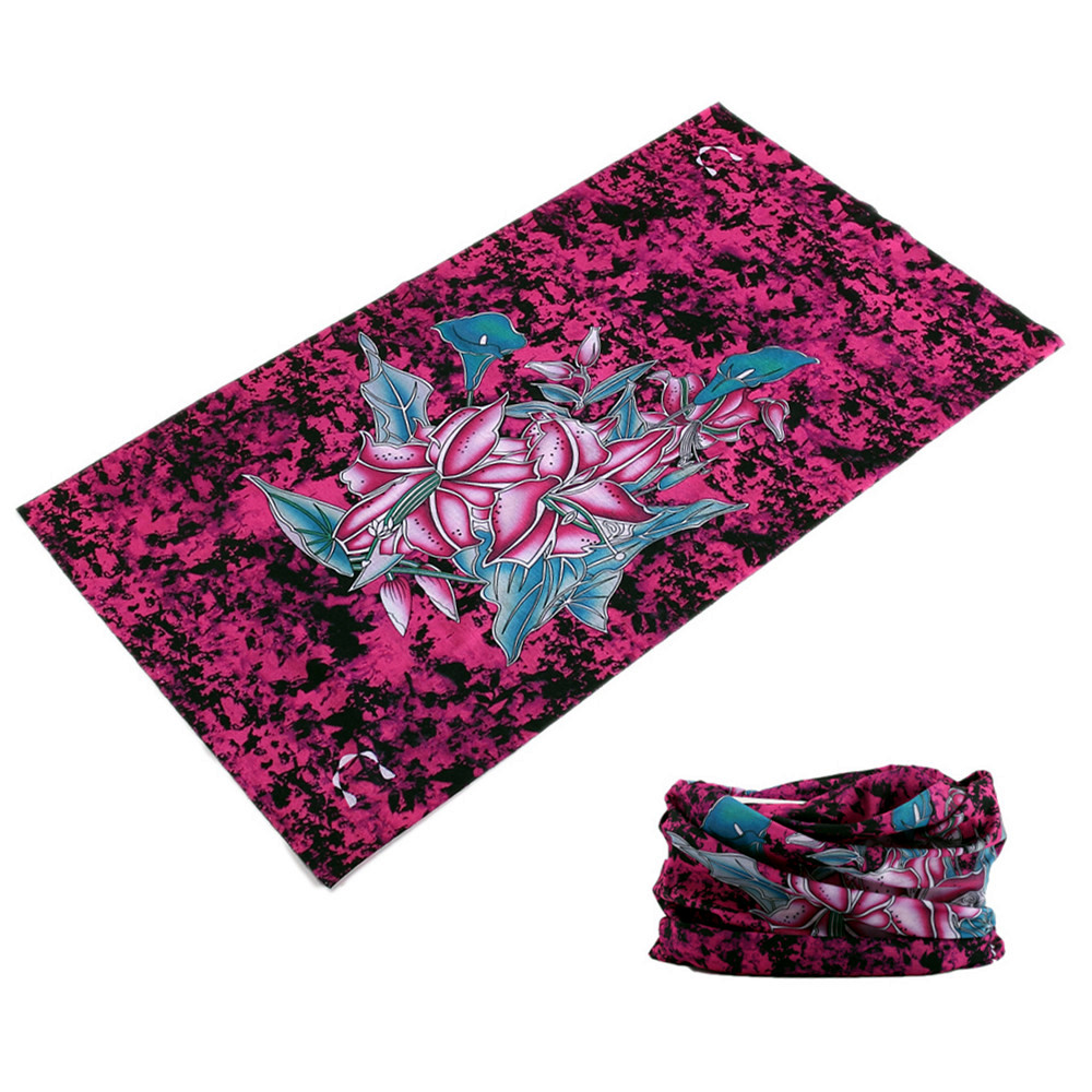 Outdoor Sports Scarf Versatility Polar Bandana Dustproof Sunscreen Head Washouts Seamless Face Veil Flower Headband Neck Shawl