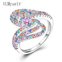 Очень красивое красочное кристаллическое кольцо конфет модное