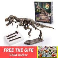 Jurásico dinosaurio fosil excavación kits educación arqueología exquisito juguete conjunto acción niños figura educación regalo BabyA9BC00
