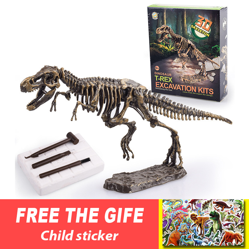 Jurassic <font><b>Dinosaur</b></font> Fossil excavation kits Education archeology Exquisite <font><b>Toy</b></font> Set Action Children Figure Education Gift BabyA9BC00 image
