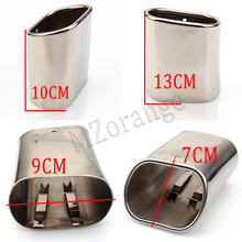 цены 1pcs Car Exhaust Muffler Tip Pipes Stainless Steel For BMW E90 E91 E92 E93 318i 318d New Auto Accessories High quality