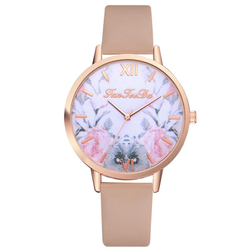Watch Women Gold Clock Luxury Stainless Steel Strap Ladies Rose Gold Girls Gold ladies Hot Sale Flowers Luxury Female Clock M3