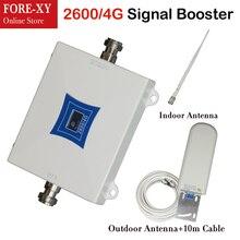Сотовый телефон усилитель сигнала Усилители домашние мобильный телефон сотовый репитер 4 г ретранслятор LTE 2600 65dB усиления 2600 МГц ALC