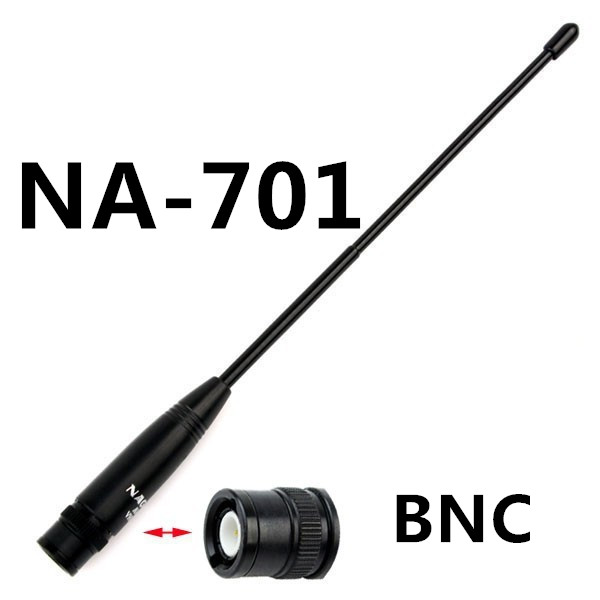 Original Nagoya Antenna BNC NA-701 144/430Mhz Dual Band High Gain Antenna BNC For Walkie Talkie ICOM Yeasu Kenwood