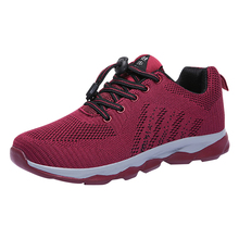 цены на Running Shoes Outdoor Sport Sneakers for Men and Women Super Breathable Lightweight Safety Non-slip Shoes for Parents Gift  в интернет-магазинах