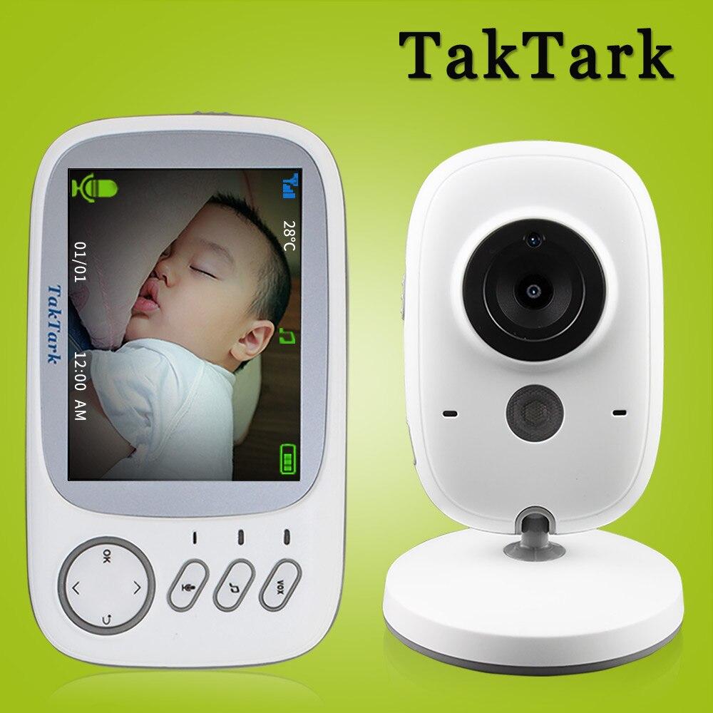 TakTark 3.2 pouce Sans Fil Vidéo Couleur Baby Monitor portable Bébé Nounou Caméra de Sécurité IR LED Night Vision interphone