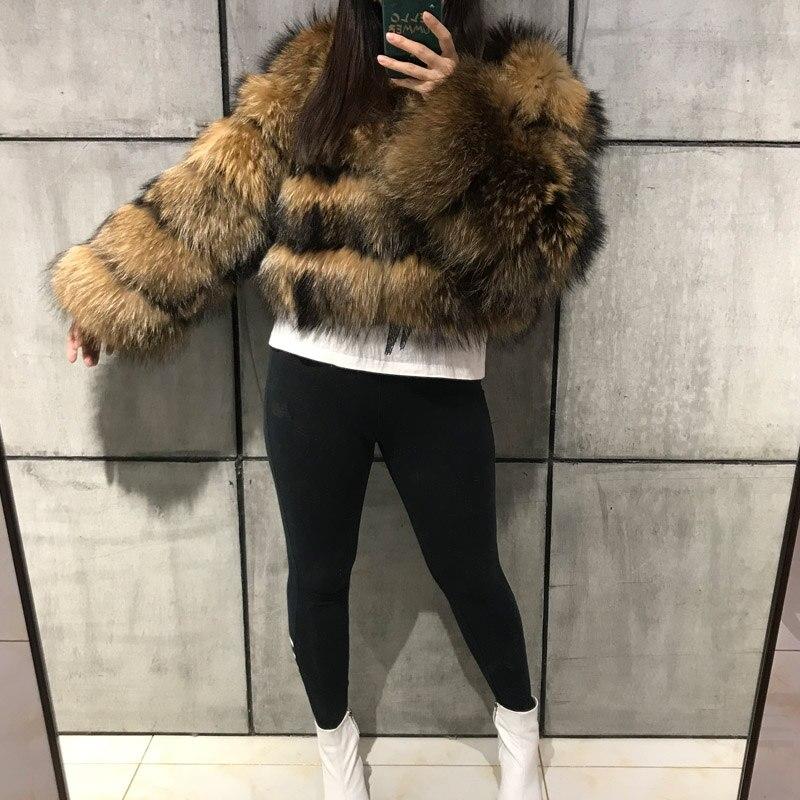 raccoon fur jacket women real fur coat natural raccoon fur coat