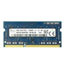 SKhynix чипы оперативная память so-dimm для ноутбука Оперативная память DDR3L 4 GB 1600 mhz 1,35 V памяти для Тетрадь PC3L-12800S 204pin non-ecc (без коррекции ошибок) Тетрадь оперативная память