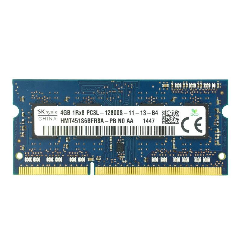 SKhynix puces ordinateur portable Sodimm Ram DDR3L 4GB 1600mhz 1.35V mémoire pour ordinateur portable PC3L-12800S 204pin non-ECC ordinateur portable mémoire vive