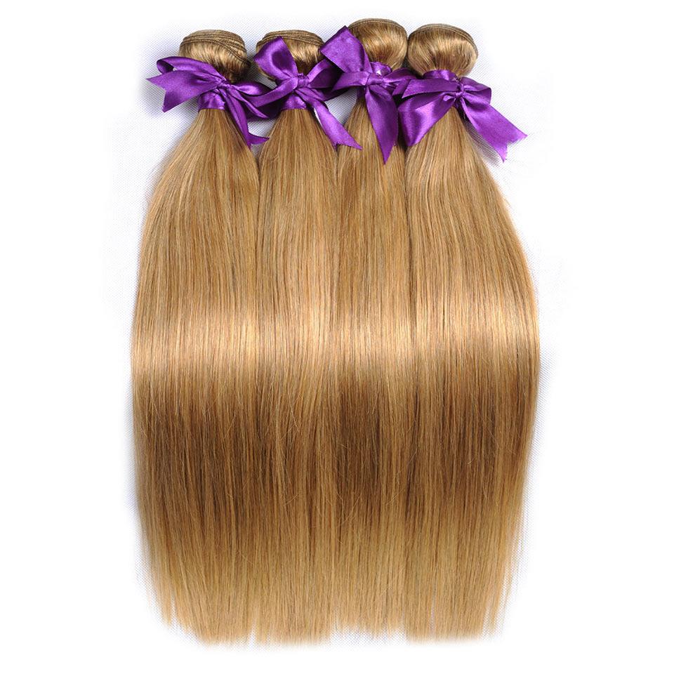 blonde brazilian straight hair bundles beautiful color 27# (28)