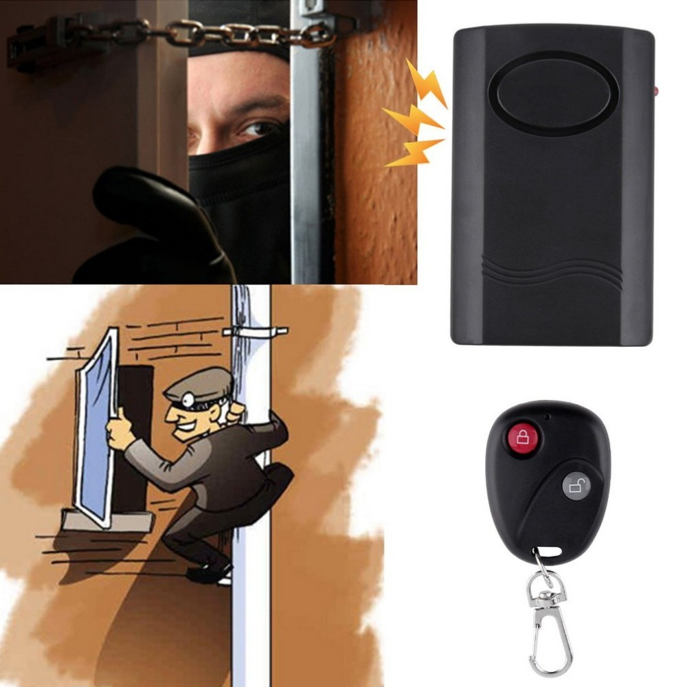 Home Wireless Remote Control Vibration Alarm Security Door Window Car Motorcycle Anti-Theft Security Alarm Safe System Detector wireless remote control vibration security alarm independly door window detector black