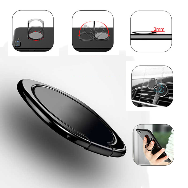 Galleria fotografica General Phone finger ring holder 360 Degree stand for Samsung Xiaomi iPhone X 7 6 55 5S plus Smartphone Tablet plain bague Jcase