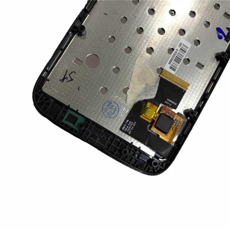 4.3 ''모토 롤라 모토 g xt1032 xt1033 lcd 디스플레이 터치 스크린 디지타이저 어셈블리 교체 부품 모토 g lcd 용 프레임