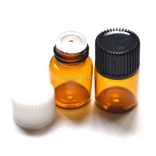 Mini Essential Oil Glass Vials with Orifice Reducer Screw Cap Small Sample 2ml Amber 2ml Vials