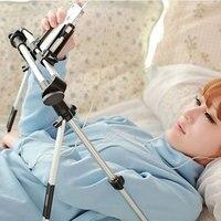 Adjustable Auto Lock Floor Desktop Stand Lazy Bed Frame Phone Tablet Holder Foldable PC Mount Bracket