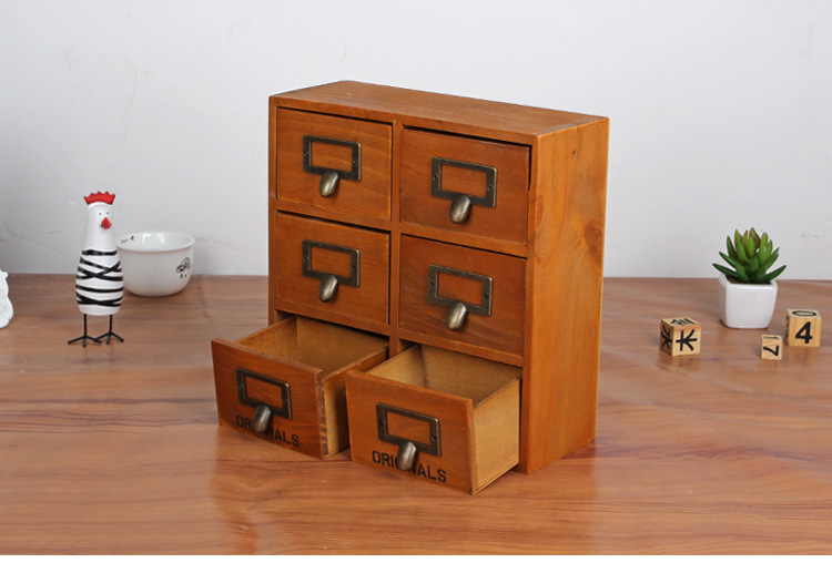 Houten opbergdoos bureau organizer multifunctionele houten
