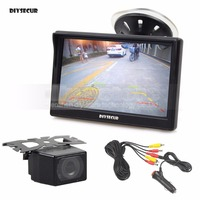 DIYSECUR Universal 5 inch TFT LCD Car Monitor + IR Night Vision Rear View Camera Parking System + 6 Meters Video Cable