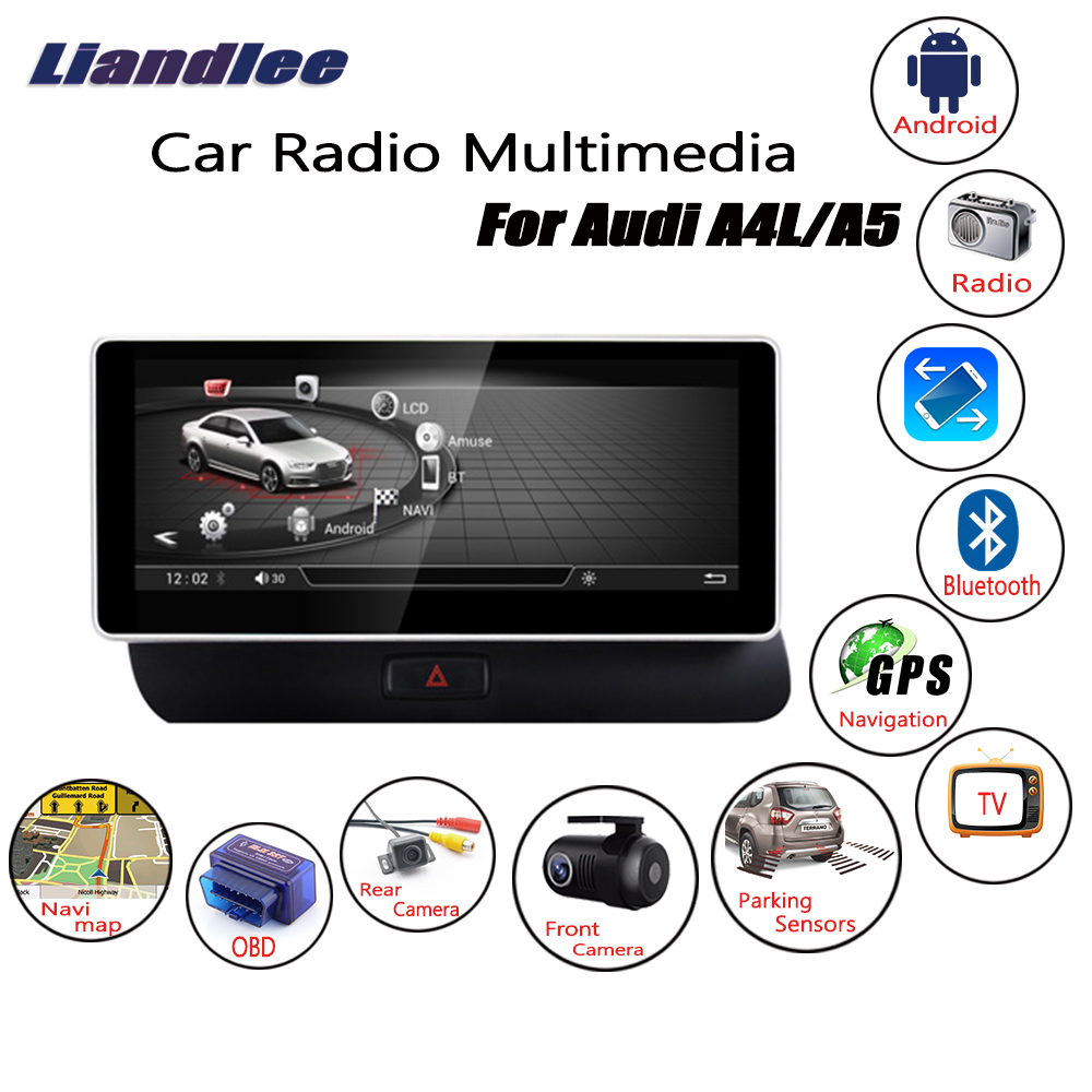 Liandlee For Audi A5 2012~2016 Android Car Radio Player GPS Navi Navigation Maps Camera OBD TV Screen Multimedia no cd dvd liandlee for ford edge 2011 2014 wince car radio cd dvd player gps navi navigation maps camera obd tv screen multimedia