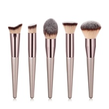 1PC Large Foundation Makeup Brushes Coffee Handle Very Soft Hair Blush Powder Make Up Brush Face Beauty Cosmetic Tools #273608