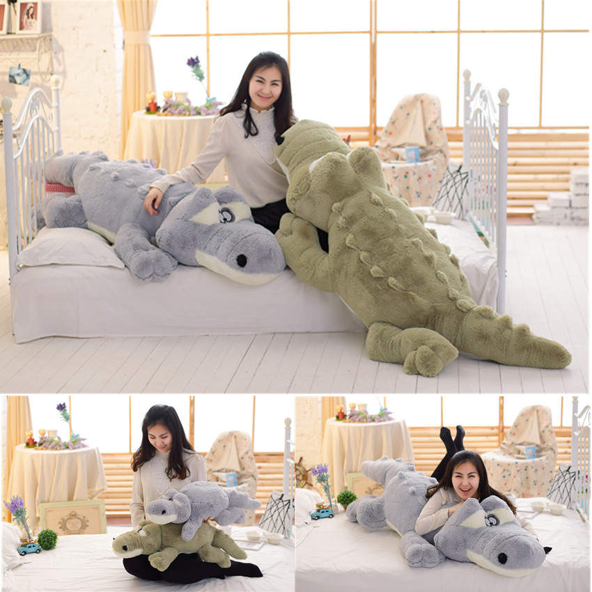 Crocodile Plush 140cm LARGE Kids Boys Bedroom Soft Stuffed Teddy Bear Alligator