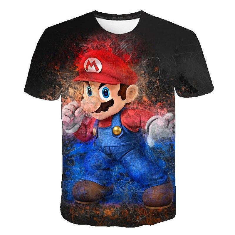 2019 crianças verão novo estilo harajuku clássico jogos super mario t camisa masculina/feminina mario bros 3d impressão t-shirts hip hop tshirt