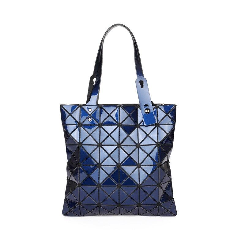 Лазерный Для женщин кожаная сумка плед Повседневное сумки Женская мода раза более Сумки леди блестки зеркало сумка