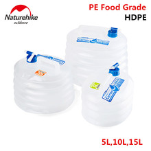 Naturehike al aire libre recipiente de agua plegable cubo plegable de almacenamiento pe de calidad alimentaria tanque de agua plegable del bolso de agua de camping senderismo