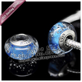 2pcs S925 sterling silver Screw Murano Glass Beads duora Charm Beads Fits duora Charm Bracelets necklaces & pendants ZS113