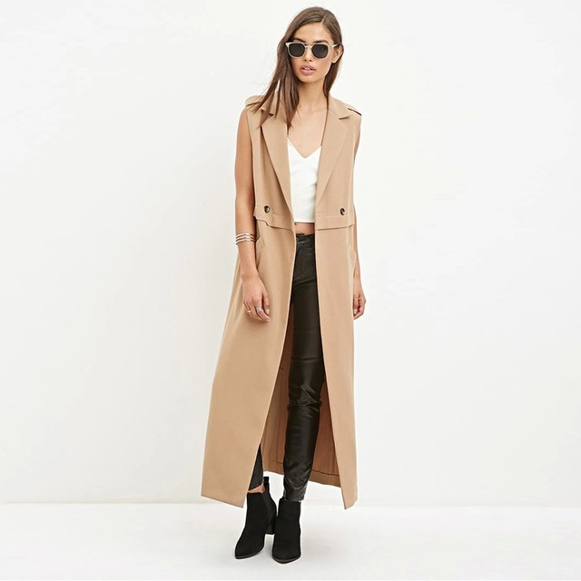 da77313f2e2 Fashion OL Slim Sleeveless Long Vest Women 2016 New Autumn Winter Coat Vest  Waistcoat Veste Femme