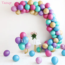 Taoup 5pcs 12inch Metal Balloons Happy Birthday Air Figures Pearl Balls Wedding Party Favors Round Ballons Accessories