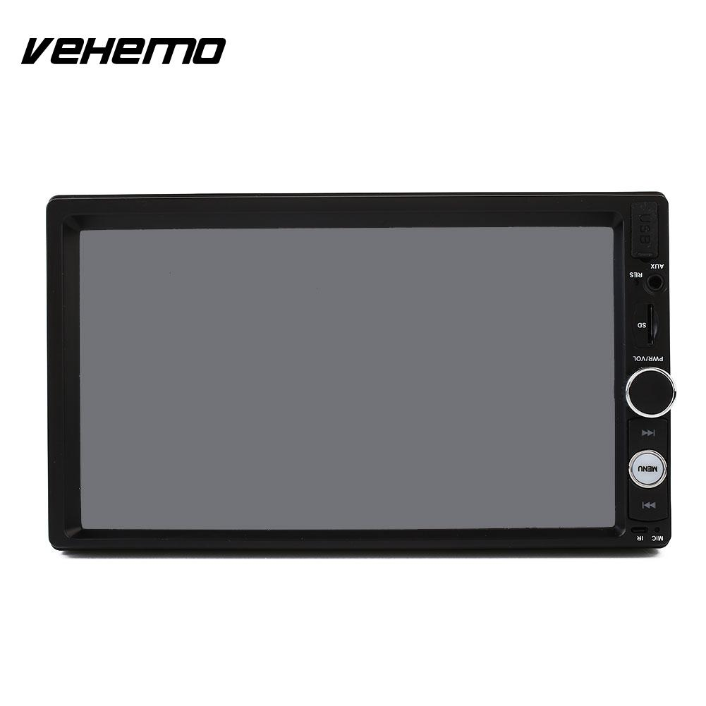VEHEMO 2 DIN 7 Inches 1080P HD Car MP5 Player Bluetooth Stereo AV Remote Control car mp5 player bluetooth hd 2 din 7 inch touch screen with gps navigation rear view camera auto fm radio autoradio ios