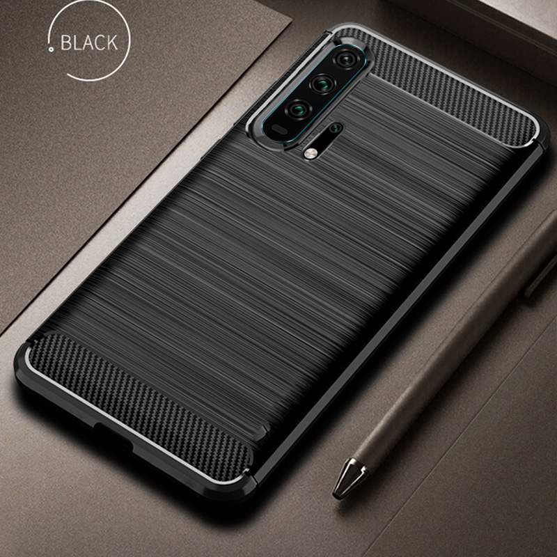 For Huawei Honor 20 Case Cover Carbon Funda Cover Shockproof Silicon TPU Case For huawei P20 Lite P10 Lite Honor 20 Pro case image