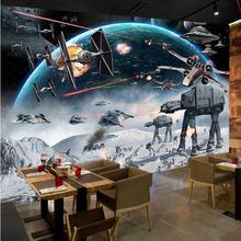 Custom Photo Wall Paper 3D Stereo Cartoon Shock Star Wars Mu