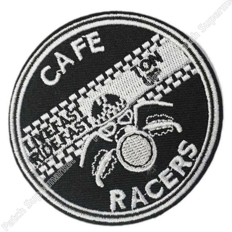 Cafe Racer Motorcycles Cloth Iron On Patches Appliques