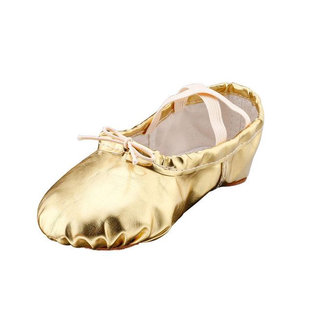 MSMAX B101 Children's Elastic Band Ballet Flats Girls' Ballroom Yoga Practice Shoes Kids Woman Basic Skills Sneakers