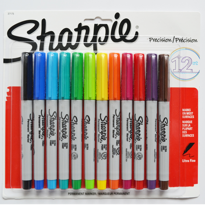 Sanford Sharpie Ultra Fine Point Permanent 12colors 37175diy