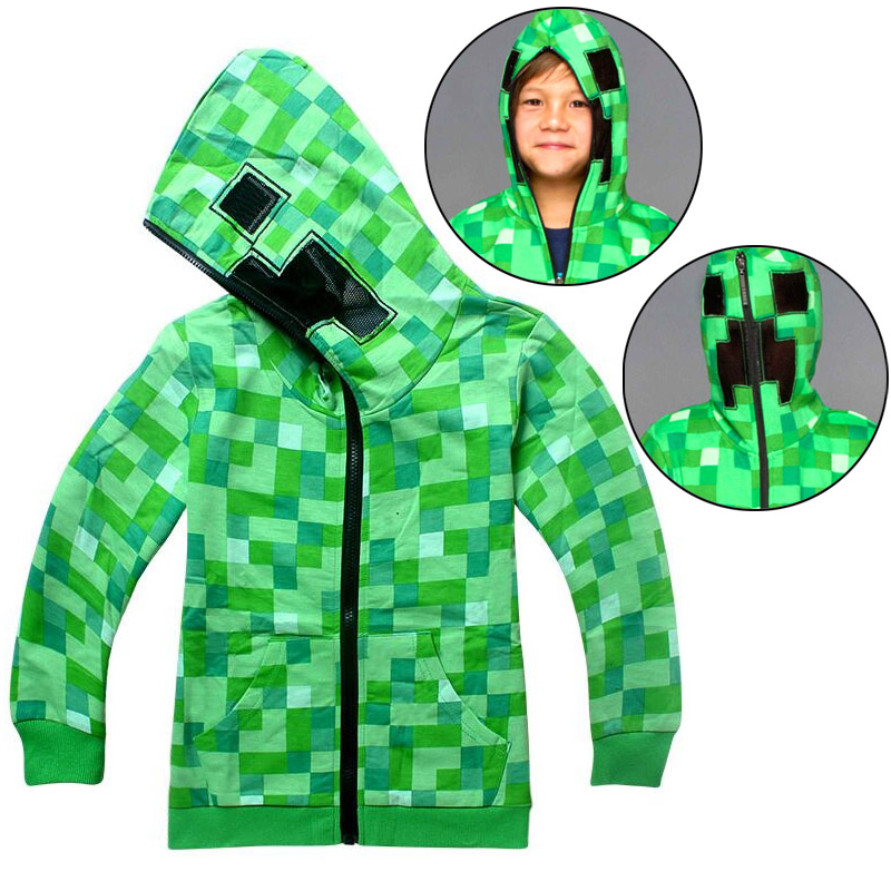 2018 Spring and Autumn Children Cartoon Minecraft Adventure Game Boys and Girls Cotton Long Sleeve Zip Hoodie T-Shirt clothing2018 Spring and Autumn Children Cartoon Minecraft Adventure Game Boys and Girls Cotton Long Sleeve Zip Hoodie T-Shirt clothing