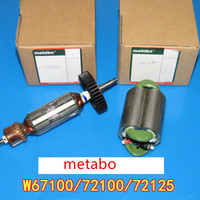 AC220 240V Anchor Armature Rotor Field Stator For Metabo W67100 W72100 W72125