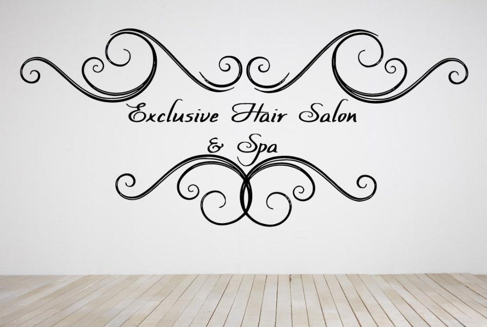 beauty hair salon wall stickers