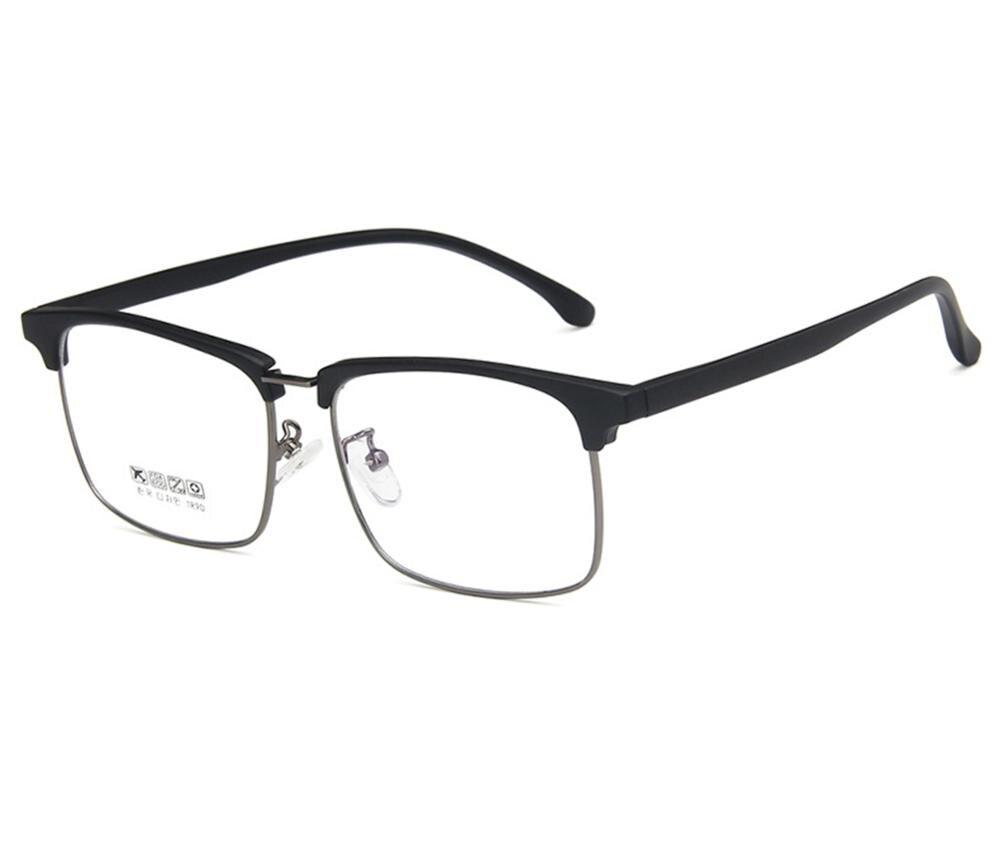 2019 New Optical Glasses Frame Lentes Opticos Mujer Unisex Glasses Frame Fashion Bright Rectangle Half Decoration Prescription