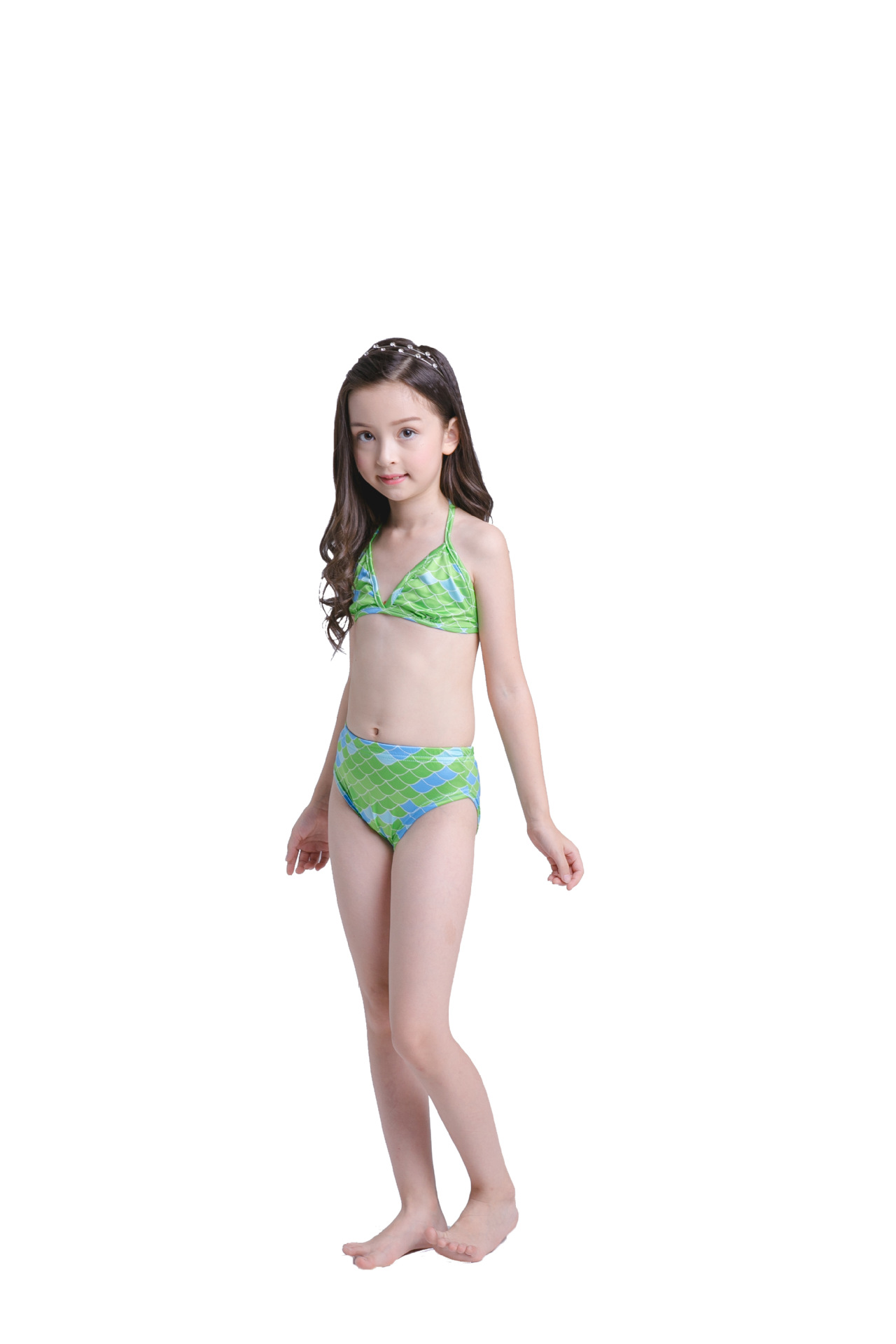 Yy819 5 New Fashion European And American Swimwear Children Mermaid Swimming Clothes Childrens Swimsuit Girl Bikini Mother & Kids
