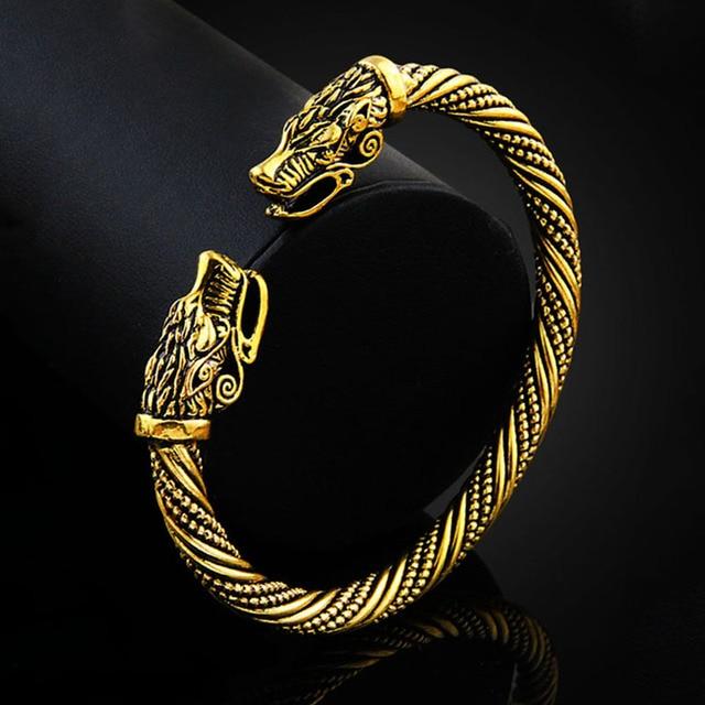 2019 Retro Teen Wolf Head Viking Bracelet Fashion Indian Jewelry Accessories Bra