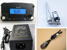 1W/7W 12V 3A ST 7C 76 108MHZ Stereo PLL FM verici yayın radyo istasyonu + güç kaynağı + anten