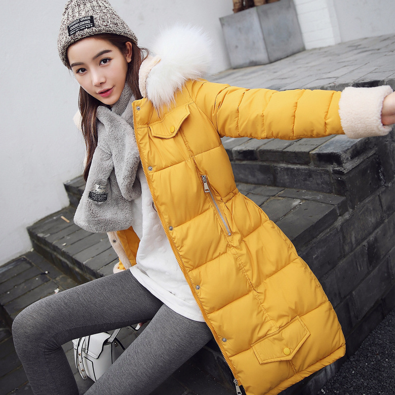 2016 Winter Korean version of the new women's cotton-padded long-sleeved women's cotton-padded jacket 2017 winter version of the new south korean edition of cotton dress short dress and a large size cotton padded jacket