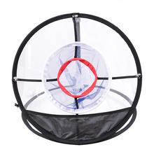 Neue Golf Pop UP Indoor Chipping Pitching Käfige Matten Praxis Einfach Net Golf Training Aids Metall + Net Außen Werkzeuge
